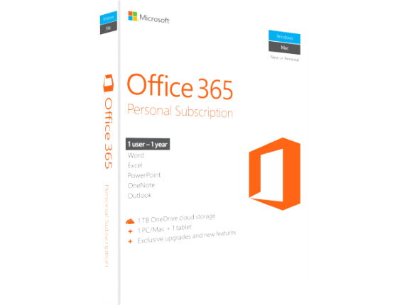 microsoft office 365 personal subscription exclusive upgrades and new features 1 tb onedrive. Black Bedroom Furniture Sets. Home Design Ideas