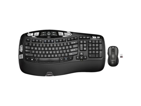 Logitech mk550 wireless wave keyboard mouse combo hp for Best home office wireless keyboard
