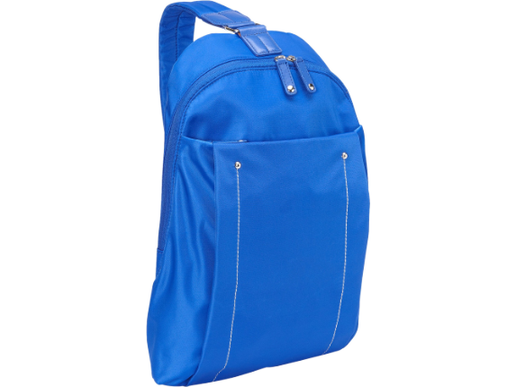 """WIB Miami City Slim Backpack for up-to 14.1"""" Notebook , Tablet, eReader - Blue - Twill Polyester"""