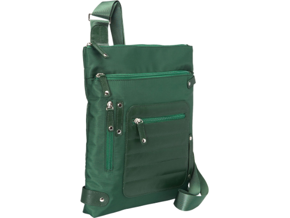 """WIB Phoenix City Slim Case for up-to 14.1"""" Notebook , Tablet, eReader - Green - Twill Polyester"""