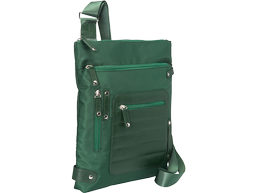 "WIB Phoenix City Slim Case for up-to 14.1"" Notebook , Tablet, eReader - Green - Twill Polyester"