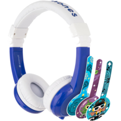 "HP Chromebook 12"" x360 + Blue BuddyPhone Explorer Kids Wired Headset Bundle - Img_Right_320_240"