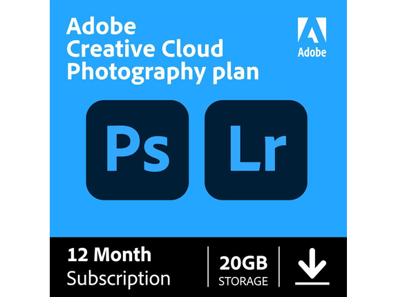 Image of Adobe Creative Cloud Photography Plan with 20GB Cloud Storage - Subscription - 12 Month|65259312 Input Devices 2BPNGP68B5V7XLB Adobe