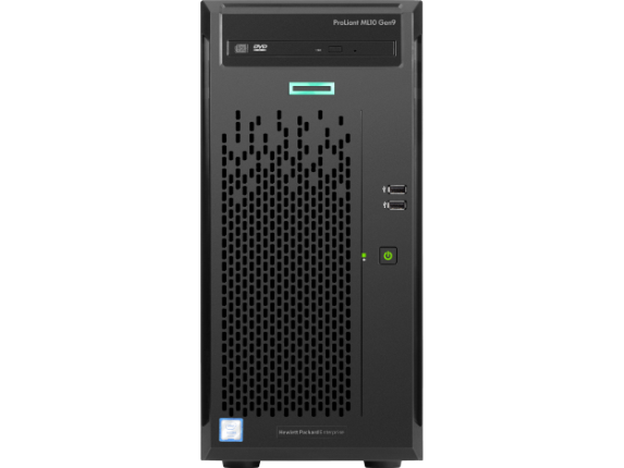 HPE ProLiant ML10 G9 4U Micro Tower Server - 1 x Intel Pentium G4400 Dual-core (2 Core) 3.30 GHz - 4 GB Installed DDR4 SDRAM - Center