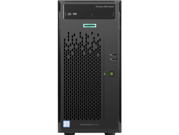 HPE ProLiant ML10 G9 4U Tower Server - 1 x Intel Xeon E3-1225 v5 Quad-core (4 Core) 3.30 GHz - 4 GB Installed DDR4 SDRAM - Seri - Center