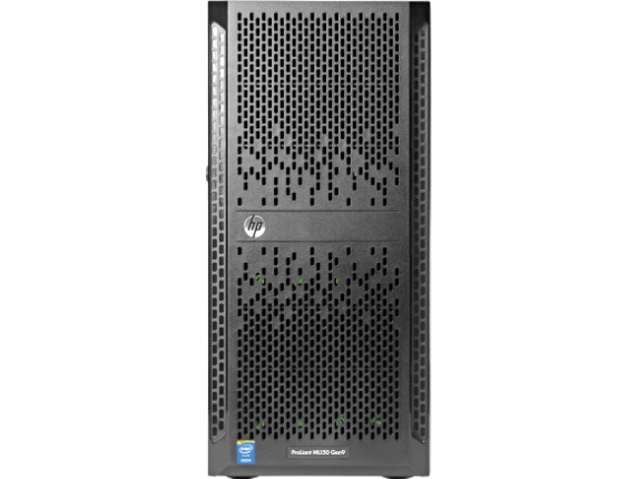 HPE ProLiant ML150 G9 5U Tower Server - 2 x Intel Xeon E5-2620 v4 Octa-core (8 Core) 2.10 GHz - 16 GB Installed DDR4 SDRAM - S - Center