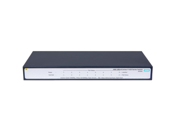 HPE OfficeConnect 1420 8G PoE+ (64W) Switch - Center
