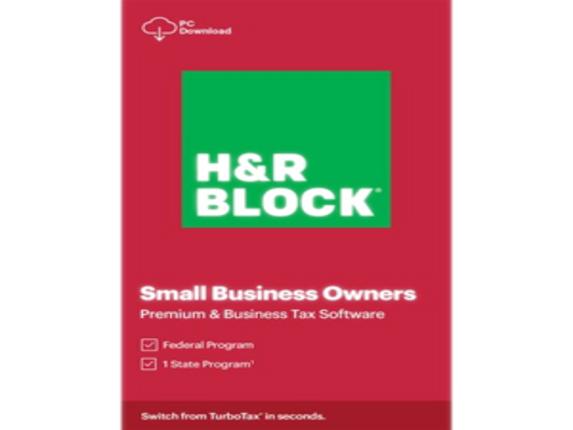 H&R Block 2020 Premium & Business Tax Software - License - 1 License|1116800-20