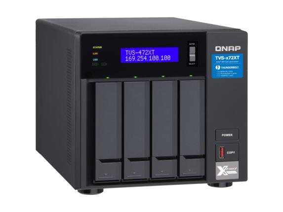 QNAP TVS-472XT-PT-4G SAN/NAS/DAS Storage System