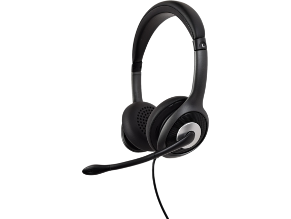 V7 USB-C Deluxe Headset with Noise Cancelling Mic, Volume Control, Digital Headset, Laptop Computer, Chromebook, PC - Black,|HU530C