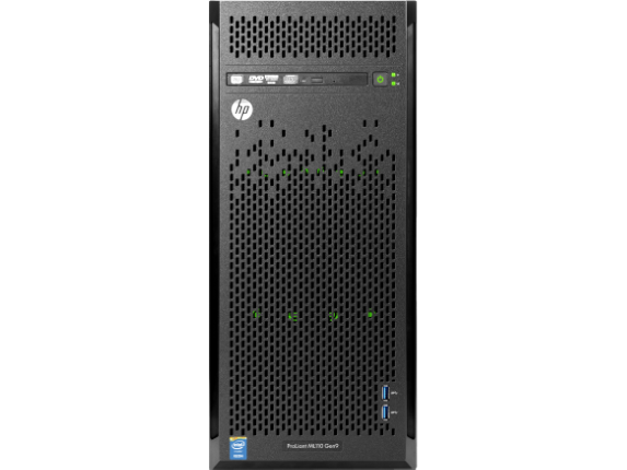 HPE ProLiant ML110 G9 4.5U Tower Server - 1 x Intel Xeon E5-1620 v4 Quad-core (4 Core) 3.50 GHz - 8 GB Installed DDR4 SDRAM - - Center