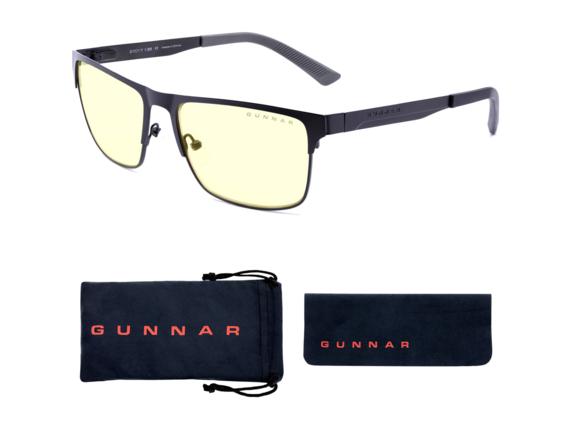GUNNAR Gaming & Computer Glasses - Pendleton, Slate, Amber Tint|PEN-09501