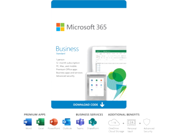 Microsoft 365 Business Standard - Subscription License - 1 Person - 1 Year KLQ-00218