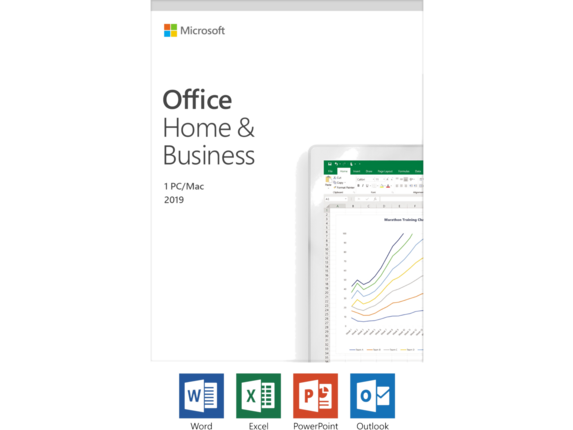 Microsoft Office 2019 Home & Business - License - Windows 10 PC/Mac, 1 Device