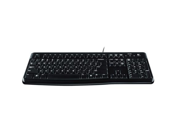 Logitech Slim Corded Keyboard - Center