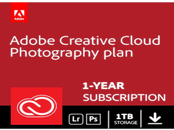 Image of Adobe Creative Cloud Photography Plan + 1TB Cloud Storage - Subscription - 12 Month|65289941 Input Devices G6DJEV5UY2QYRFB Adobe