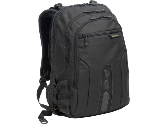 "Targus EcoSmart TBB019US Carrying Case (Backpack) for 17"" Notebook - Black, Green - Center"