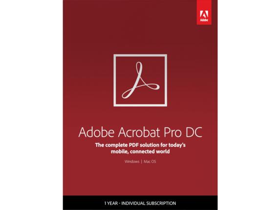 Adobe Acrobat Pro DC - Subscription - 1 Year|65289618