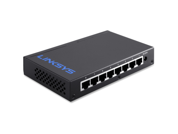 Linksys 8 Port Desktop Gigabit Switch - Center