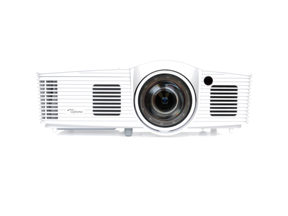 Optoma EH200ST Full 3D 1080p 3000 Lumen DLP Short Throw Projector with 20,000:1 Contrast Ratio and MHL Enabled - Center