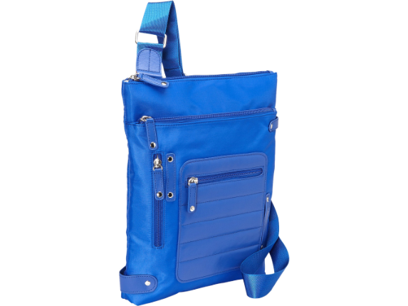 """WIB Phoenix City Slim Case for up-to 14.1"""" Notebook , Tablet, eReader - Blue - Twill Polyester - Center"""