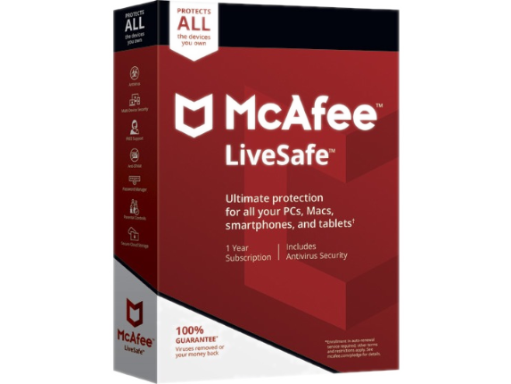McAfee LiveSafe - 3 Year - Service - Center