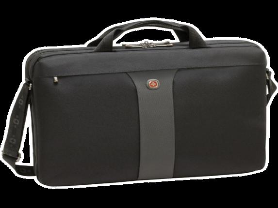 Swissgear Legacy Slimcase 17in laptop. Black - Center