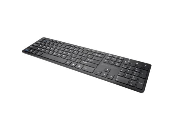 Kensington KP400 Switchable Keyboard - Black - Center
