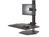 Innovative Winston Workstation Single Freestanding Sit-Stand - Center