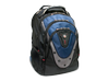 "Swissgear IBEX 17"" Backpack, Black & Blue - Center"